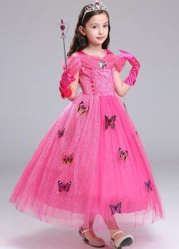Mit Kleid Cinderella Für Schmetterlingen Weiss Kostüm Mädchen D2WYIHE9